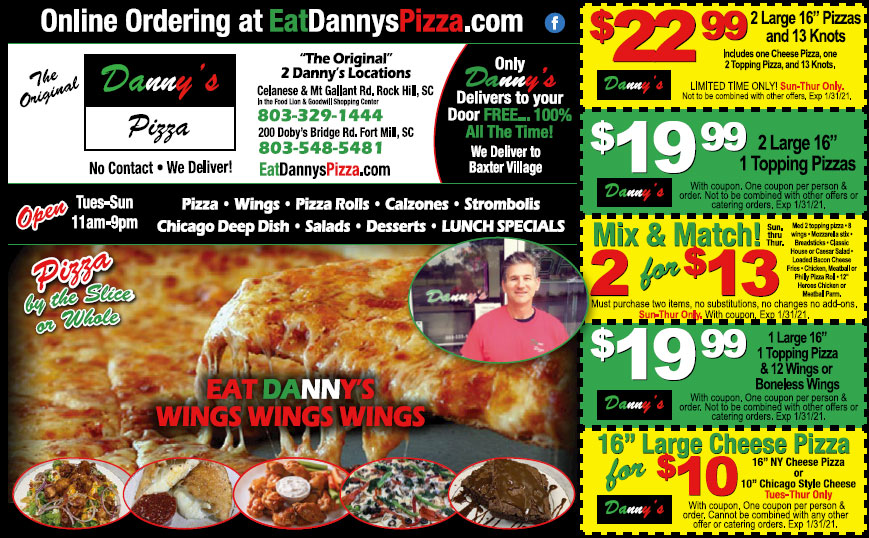 Dannys Pizza Coupons